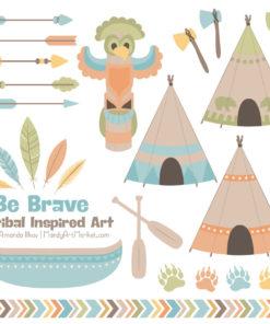 Vintage Boy Tribal Clipart