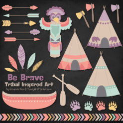 Vintage Girl Tribal Clipart