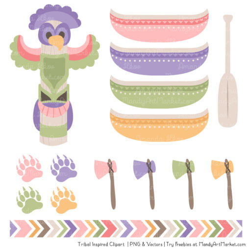 Wildflowers Tribal Clipart