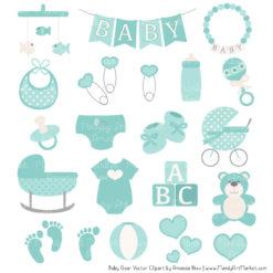 Aqua Baby Clipart