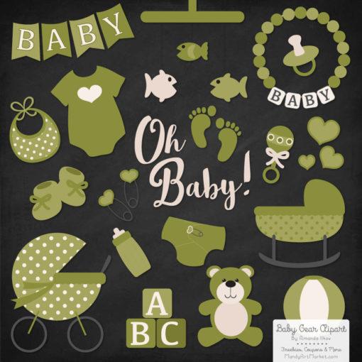 Avocado Baby Clipart