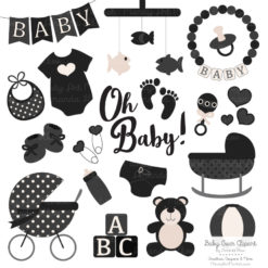 Black Baby Clipart
