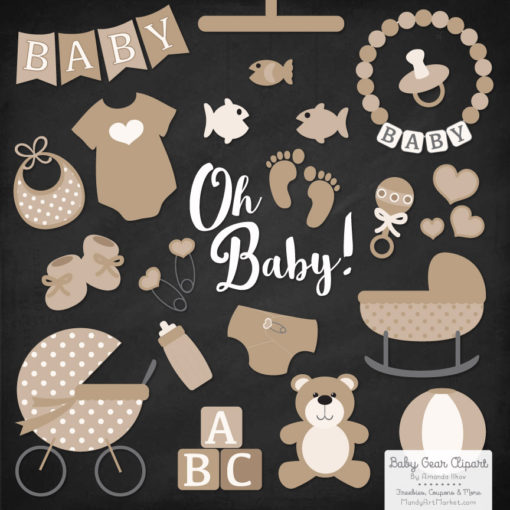 Champagne Baby Clipart