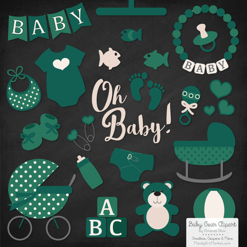 Emerald Baby Clipart