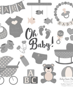 Grey Baby Clipart