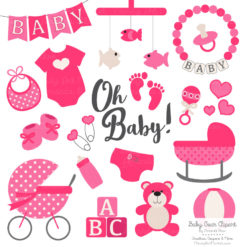 Hot Pink Baby Clipart