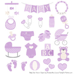Lavender Baby Clipart