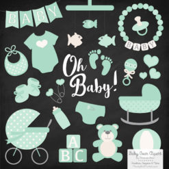 Mint Baby Clipart