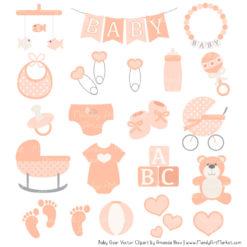 Peach Baby Clipart