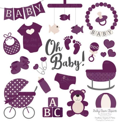 Plum Baby Clipart