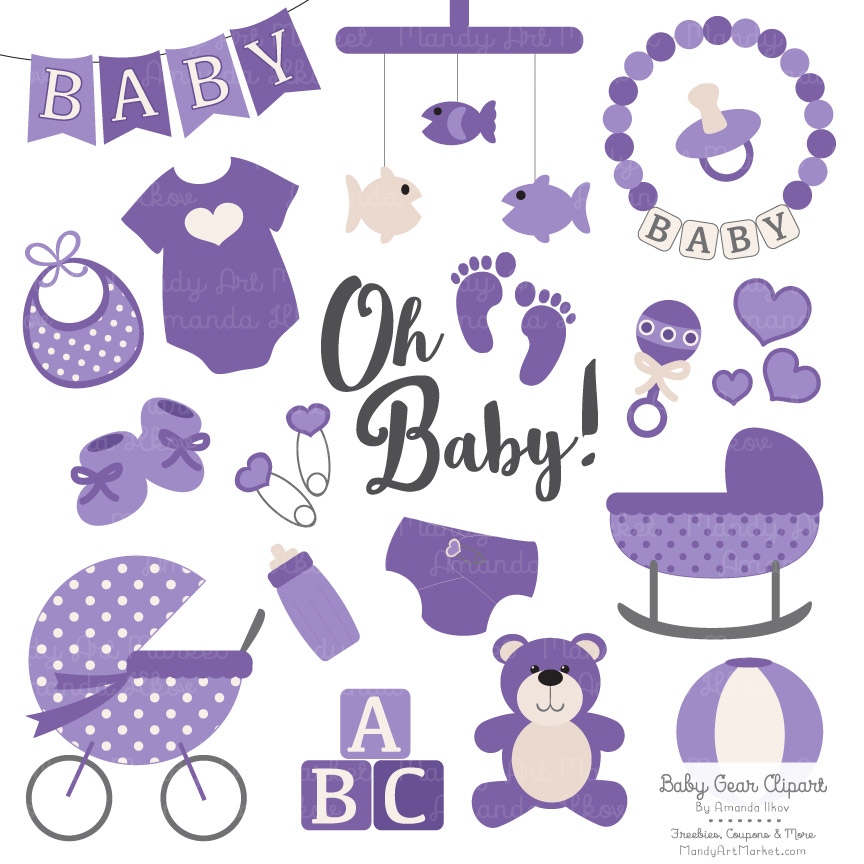 Baby purple. Clipart