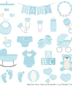 Soft Blue Baby Clipart