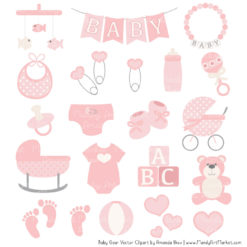 Soft Pink Baby Clipart