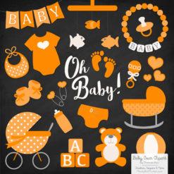 Tangerine Baby Clipart