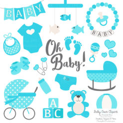 Tropical Blue Baby Clipart