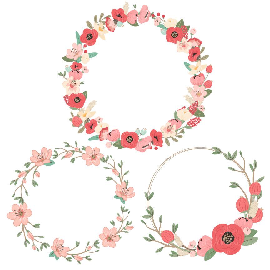 clipart flower wreath - photo #9