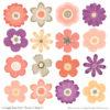 Antique Peach Cute Flower Clipart