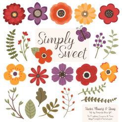 Autumn Cute Flower Clipart
