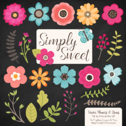 Bohemian Cute Flower Clipart