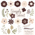 Chocolate Flower Clipart