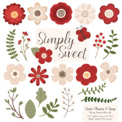 Christmas Cute Flower Clipart