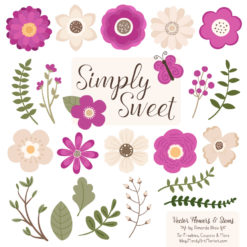 Fuchsia Cute Flower Clipart