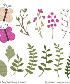 Fuchsia Cute Flower Clipart