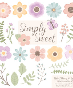 Grandmas Garden Cute Flower Clipart