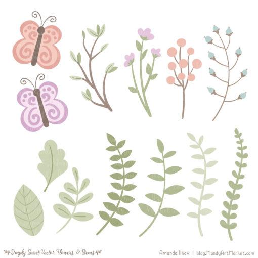Grandmas Garden Cute Flower Clipart