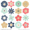 Modern Chic Cute Flower Clipart