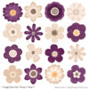 Plum Cute Flower Clipart