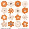 Pumpkin Cute Flower Clipart
