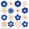 Royal Blue Cute Flower Clipart