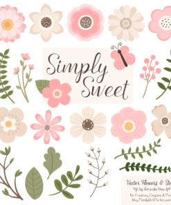 Soft Pink Cute Flower Clipart