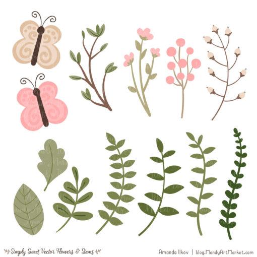 Soft Pink Cute Flower Clipart