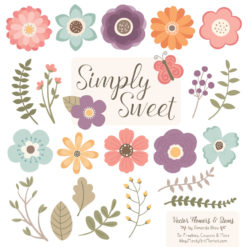 Vintage Cute Flower Clipart