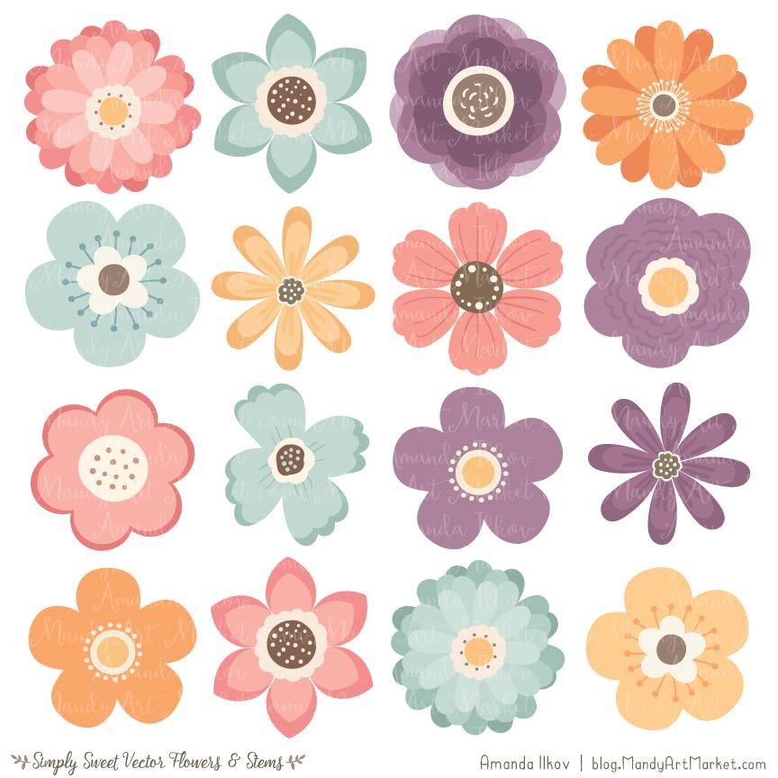 Vintage Flower Clipart & Vectors