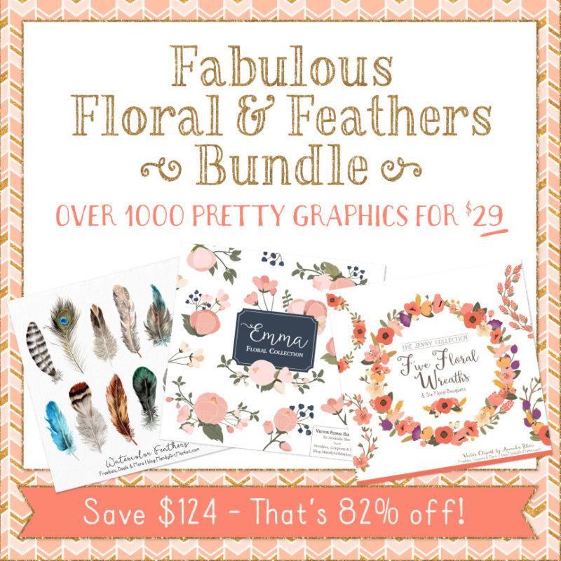 FabBundle assets Etsy1 800x800 - Fabulous Florals & Feathers Design Bundle
