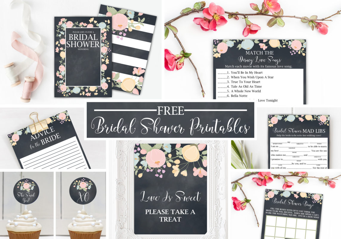 Free Bridal Shower Printables Part A