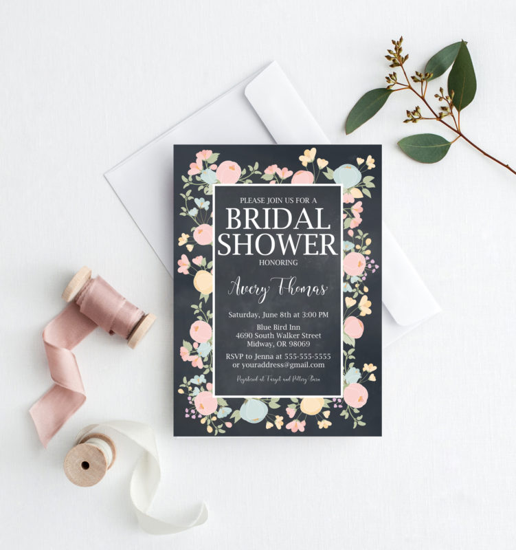 free bridal shower printables invitation