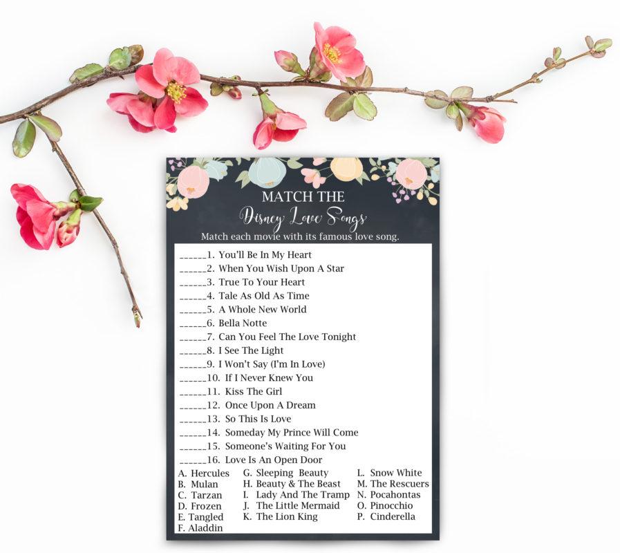 Free Bridal Shower Printables Game
