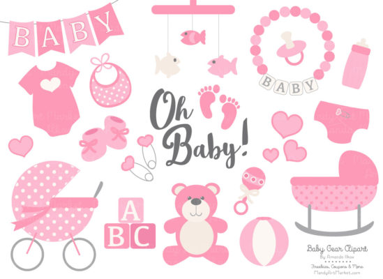 Pink New Baby Clipart