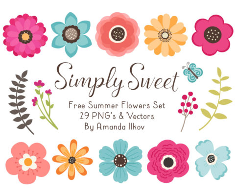 Free Summer Flowers Clipart