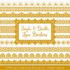 Mustard Digital Lace Borders Clipart