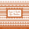 Pumpkin Digital Lace Borders Clipart