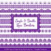 Violet Digital Lace Borders Clipart