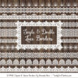 White Digital Lace Borders Clipart