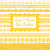 Yellow Digital Lace Borders Clipart