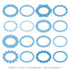 Blue Round Digital Lace Frames Clipart