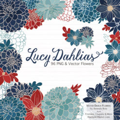 AmericanaLucyDahlias package 1 247x247 - New Lucy Dahlia Clipart in 96 Colors